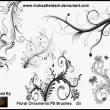 艺术性植物印花PS笔刷素材