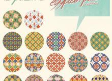 18种复古式靓丽埃及色彩背景PS填充素材