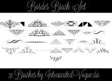 31种优雅的线条艺术印花PS贵族花纹笔刷