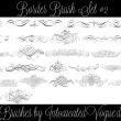 25种贵族线条印花PS笔刷素材