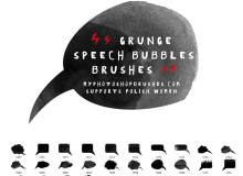 24种手绘涂鸦风格气泡框、消息对话框PS笔刷