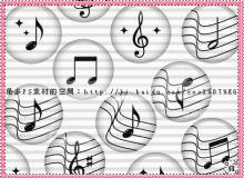 音符图案PS笔刷