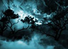 月黑风高背景、恐怖幽灵场景PS笔刷