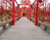 七夕节情侣走廊照片背景
