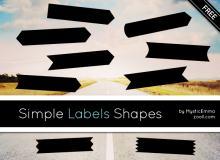 免费便签、标签图片photoshop自定义形状素材 .csh 下载