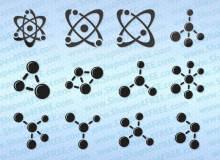 原子图形、分子结构photoshop自定义形状素材 .csh 下载
