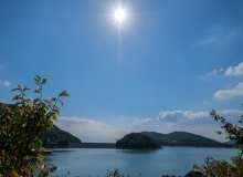 蓝色的天、蓝色的水风景照片素材