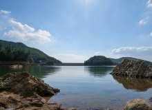 中国的蓝天湖水照片素材