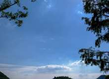 蔚蓝天空背景高清贴图素材