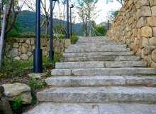 石板台阶背景图片