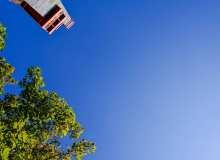纯净蓝色天空高清4K照片图片
