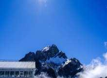 玉龙雪山山顶背景4K照片