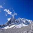 仰望雪山峰顶图片、免费版权商用照片