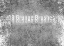18种陈旧、残破墙壁纹理材质PS笔刷素材