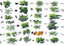 一组自然风景CG创作的PS笔刷素材