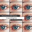 瞳孔光芒、眼睛的映射效果PS笔刷素材
