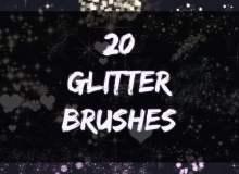 20种各种亮晶晶装饰PS笔刷素材