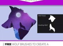 2种免费的Photoshop 画笔笔刷素材(含.abr文件和Procreate文件素材)
