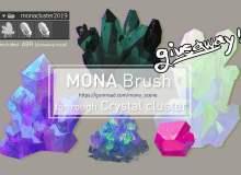 宝石矿、水晶钻矿石图像PS笔刷素材