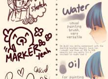 油漆、油画涂鸦笔触sut笔刷CLIP STUDIO PAINT 画笔下载