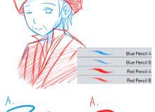 铅笔、蜡笔笔触sut笔刷CLIP STUDIO PAINT 画笔下载