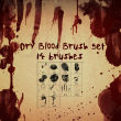 血液滴溅、血腥痕迹、血手印、血掌纹PS笔刷素材