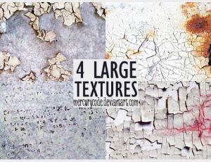 4种油漆剥落、干旱纹理效果PS笔刷素材(JPG图片格式)