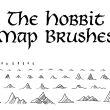 山丘、小山、山脉涂鸦效果ps笔刷素材