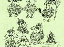 手绘绵阳图像PS卡通羊笔刷