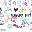 童趣天真风格的儿童涂鸦、手绘涂鸦风格PS笔刷