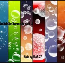 6种高清气泡、泡泡造型PS笔刷素材