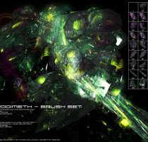 科幻世界、异次元高能抽象元素PS超科技笔刷
