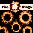 6种火焰火环、火圈效果PS笔刷素材