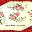盛开的鲜花花纹图案PS笔刷素材(PNG透明格式)