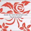 植物印花、鲜花印花纹理PS笔刷素材