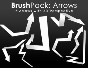 3D折叠箭头标记图案PS笔刷素材