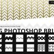 12种折线纹理花纹PS笔刷素材