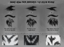 一组新的皮毛纹理涂抹PS笔刷素材