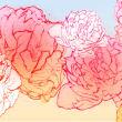 手绘涂鸦牡丹花朵PS笔刷素材