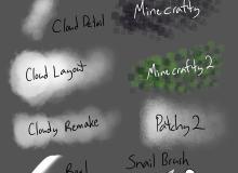 14种免费漫画工作室专用的 clip studio paint 绘画软件笔刷素材(非PS笔刷,CSP画笔)