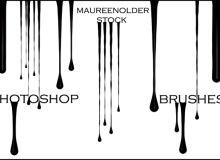 血液液体流下来纹理PS笔刷