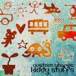 可爱童趣图案、儿童贴纸PS形状素材下载