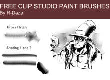 免费 CSP-漫画工作室专用笔刷