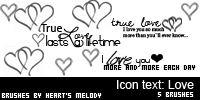 手绘涂鸦爱心、心形、恋爱图案PS笔刷