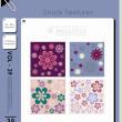 4种小红花花纹图案PS笔刷(JPG图片格式)