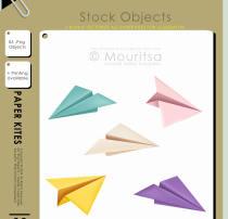 纸飞机图形PS笔刷素材
