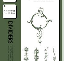 贵族风格的植物印花装饰图案PS笔刷素材