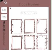 非主流式植物花纹边框、门框、相框图形PS笔刷