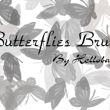 蝴蝶斑纹图案PS笔刷素材