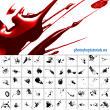 逼真的血液痕迹、带光泽纹理的液体泼溅PS笔刷素材